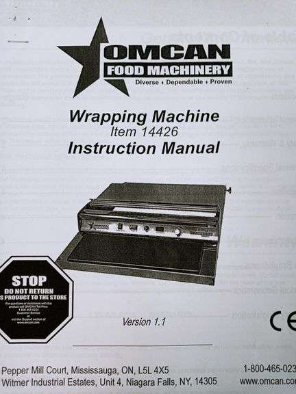 Omcan Food Machinery Wrapping Machine