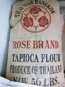 Thai Wah Bangkok Rose Tapioca Flour - 50 lb Bag