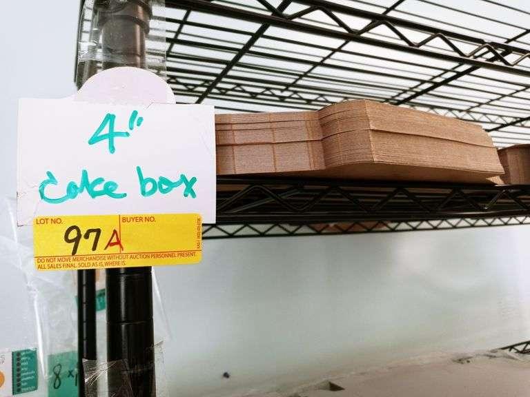 "4"" Cake Boxes"