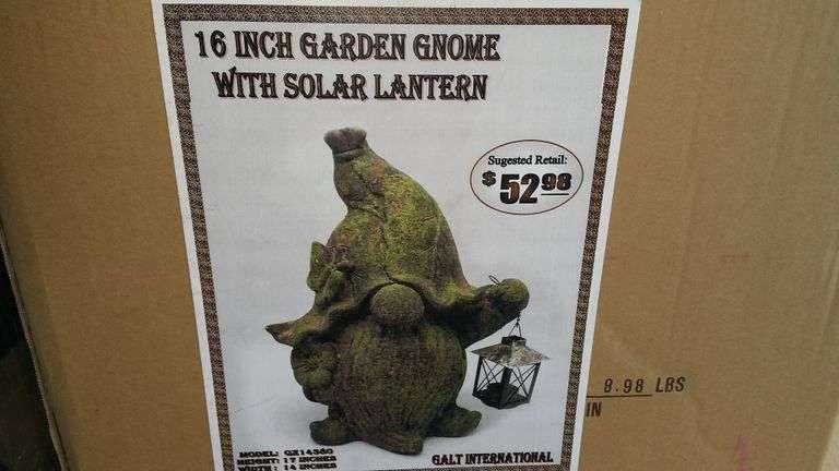 "16"" GARDEN GNOME SOLAR LIGHT"