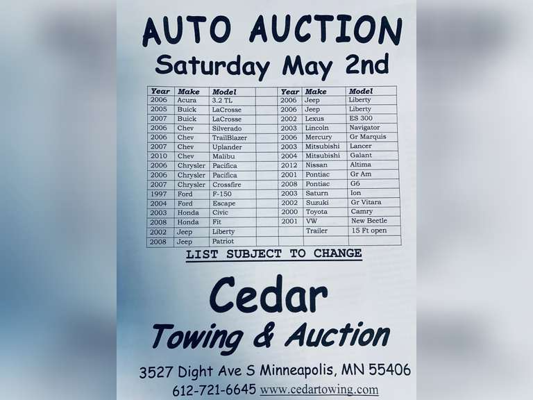 Auction May 2nd  ,2020