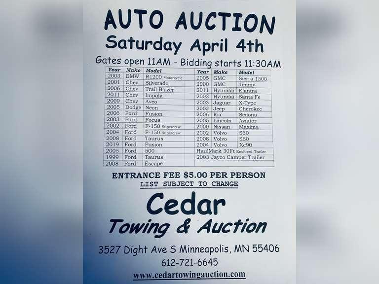 Auction April 4th