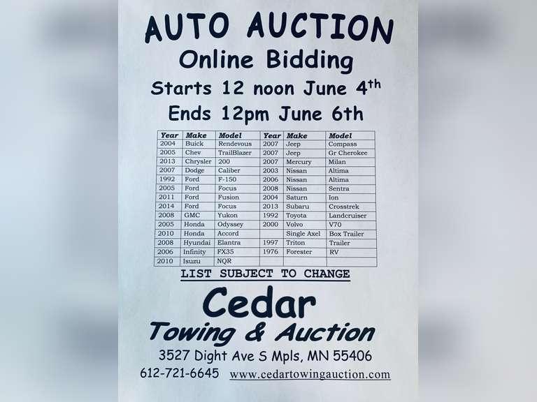 Auction June 6th