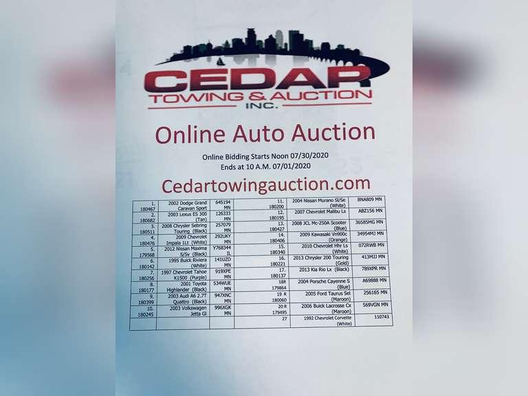 Auction August 1st