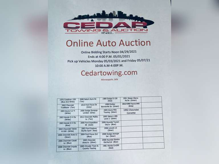 Auction May 1st, 2021