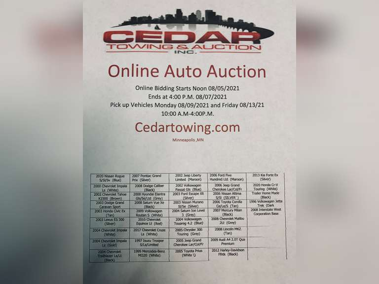 Auction August 5th , 2021