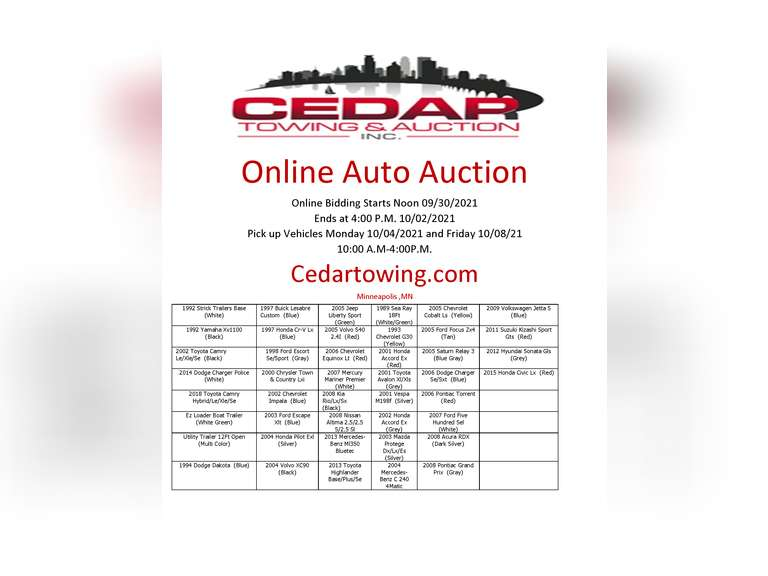Auction October 2nd 2021