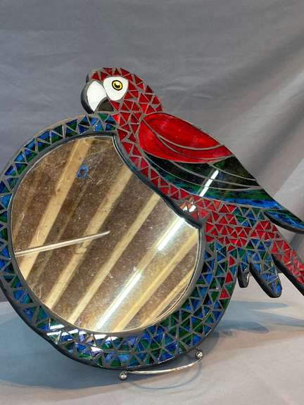 Parrot mirror approximately  12 inches