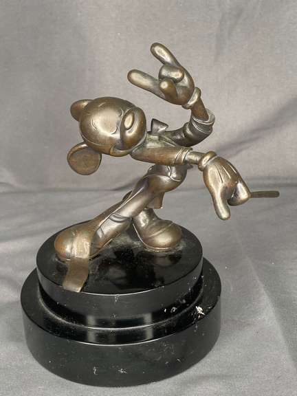 Walt Disney Mickey Mouse Bronze conductor sculpture limited Edition