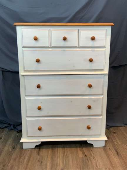 "5 Drawer Dresser 17"" deep x 37.5"" wide x 52"" tall"