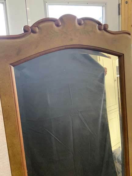 """Full Length Mirror on stand 62"""" tall x 25"""" wide x 15"""" deep"""