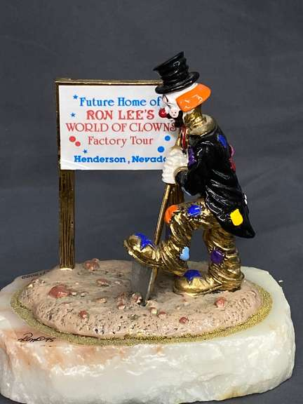 Ron Lee Hobo World of Clowns Sculpture, Numbered 312/10000 Ltd Edition