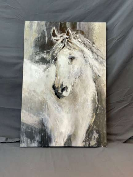 "Large Canvas Horse Painting 35"" x 24"""