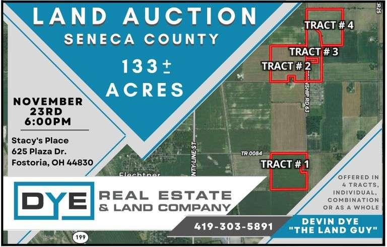 133 Acres, Seneca County, Ohio