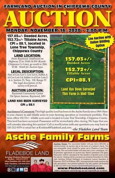 Prime Chippewa County Farmland Auction