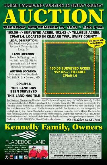 Prime Farmland Auction in Swift County