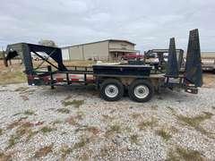 "80 3/4"" x 18' Heavy Duty Gooseneck Utility Trailer w/ Tilt-up Ramps"