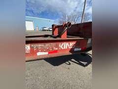 1990 Trail King Dovetail Equipment Trailer w/ Tilt-up Ramps