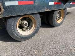 1990 Custom Hydraulic Tilt Deck Equipment Trailer w/ Hydraulic Assisted Rear Ramps