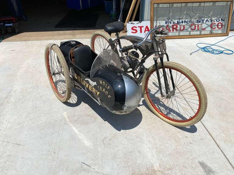Antique Motor Bike with Side Car