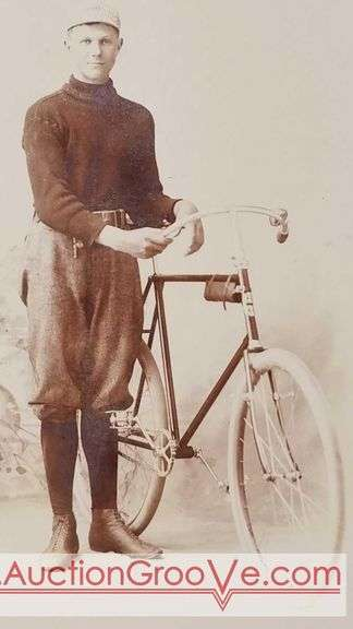 Exceptional photo by Spettel Bros. Studio, North and South LA CROSSE, Wis. This Dapper young fellow is decked out to go for a ride on his brand new bicycle. Cabinet card measures about 4.25 by 6.5 in. Authentic La Crosse history on an amazingly good condition photograph.