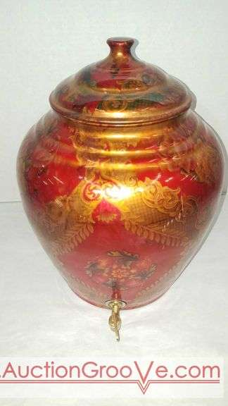 Vintage Taluka copper Indian beverage dispenser with Prakash Tapper. 14 x 13.