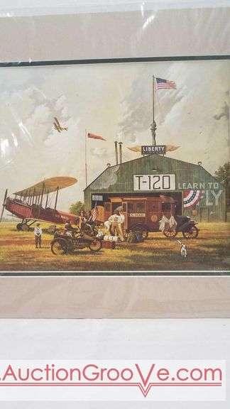 Liberty Airport. Print by Charles Wysocki. 16 x 17