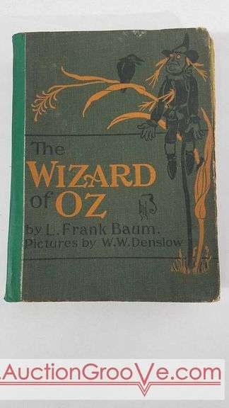 The Wizard of Oz by L.Frank Braum hard cover book. No book sleeve and in well used condition. See photos