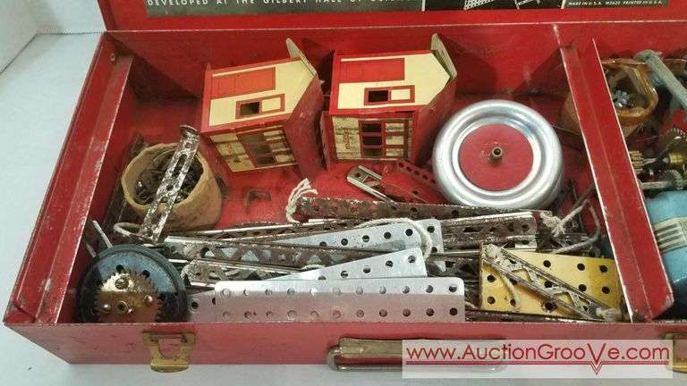 Erector set by the A C Gilbert company. no. 6 1/2