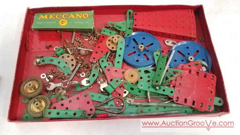 Meccano Accessory Outfit and a manual of instruction book number one. #16