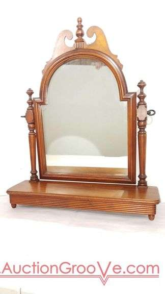 Vintage Vanity Style Free Standing Footed adjustable mirror. Beautiful addition for your boudoir. 27 x 22 x 7.