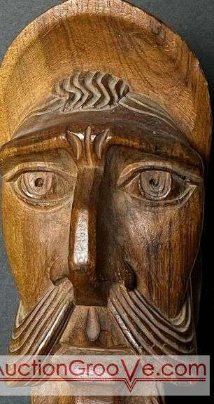 Hand carved hardwood bust of Don Quixote. It measures approximately 11 in high.