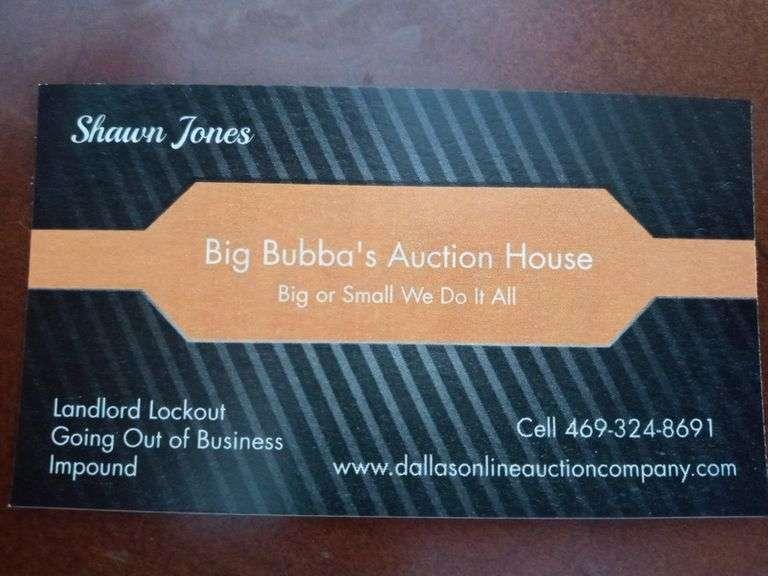 BIG BUBBAS AUCTION HOUSE - GREAT FORNEY ESTATE SALE