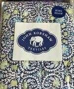 "Jr by John Robshaw Vanna Queen Size Pillowcase Sham 20 x 26"". 100% Cotton"