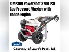 SIMPSON POWERSHOT 3700-PSI 2.5-GPM COLD WATER GAS PRESSURE WASHER WITH HONDA ENGINE