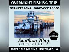 OVERNIGHT FISHING TRIP FOR 4 - DOGWOOD LODGE, HOPEDALE, LA