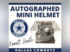 DALLAS COWBOYS MINI HELMET SIGNED BY EMMITT SMITH