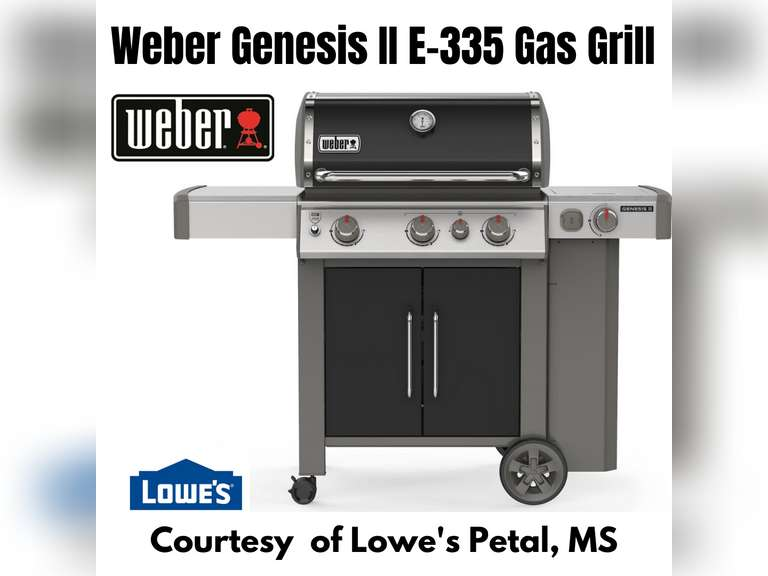 WEBER GENESIS II E-355 3-BURNER LIQUID PROPANE GAS GRILL