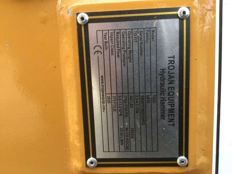 (UNUSED) 2020 TROJAN TH35 35CL HYDRAULIC HAMMER