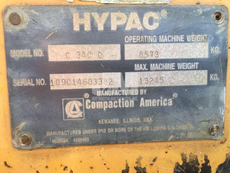 2004 HYPAC C340C SN: 109C14603382 DOUBLE DRUM ROLLER