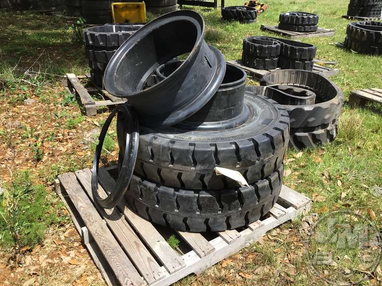 (UNUSED) QTY OF (2) SOLID TIRES