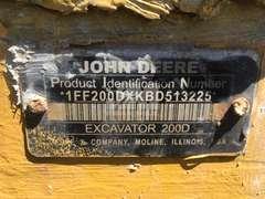 2011 DEERE 200D LC HYDRAULIC EXCAVATOR SN: 1FF200DXKBD513225
