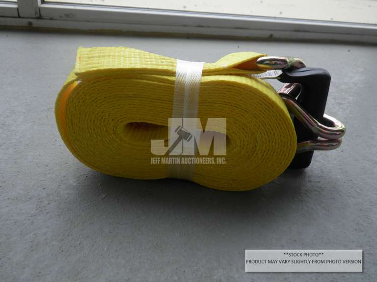 "(UNUSED) QTY OF (10) 2"" X 27' RATCHET TIE DOWN"