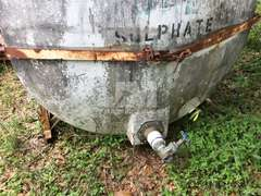 SKID MOUNTED POLY HOLDING TANK W/ STEEL FRAME