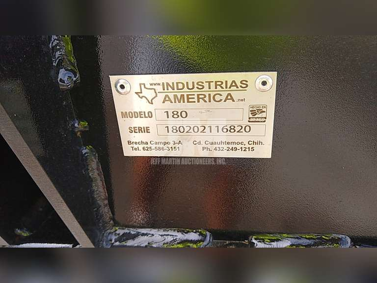 (UNUSED) INDUSTRIAS AMERICA 180 SN: 180202116820 8' HYDRAULIC ADJUSTABLE DRAG BLADE