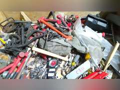 CRATE W/ASSORTMENT OF MISCELLANEOUS HAND TOOLS INCLUDING: SOCKETS, WRENCHES, SCREWDRIVERS,