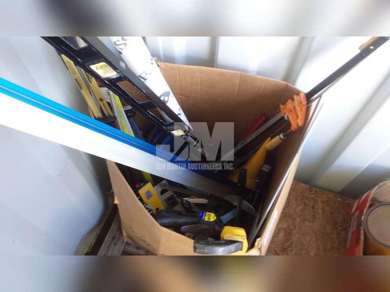 BOX W/ MISC SHOP TOOLS