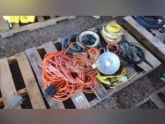 PALLET OF MISC. EXTENTION CORDES & ELECTRICAL WIRE