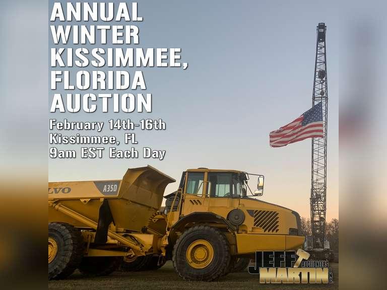 ANNUAL WINTER KISSIMMEE, FLORIDA AUCTION- FEBRUARY 14-16, 2022 @ 9 AM EST