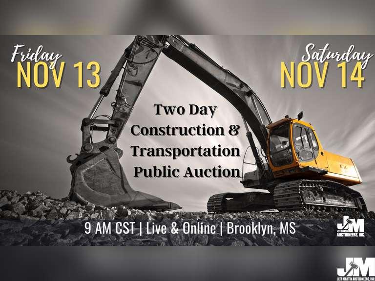 CONSTRUCTION & TRANSPORTATION FALL PUBLIC AUCTION